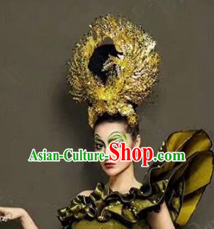Chinese Handmade Classical Wedding Hairpins Ancient Hanfu Exaggerated Phoenix Coronet Hair Accessories for Women