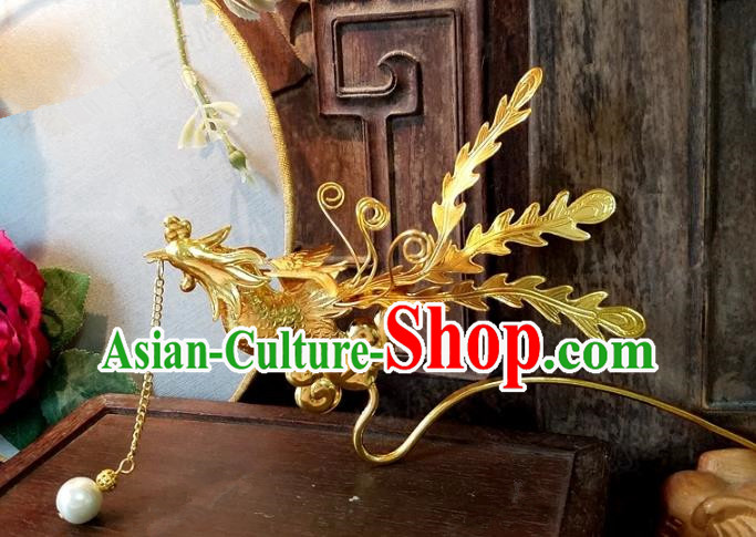 Chinese Handmade Classical Hairpins Ancient Hanfu Phoenix Hair Clip Hair Accessories for Women