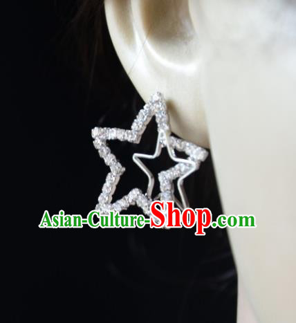 European Western Bride Vintage Accessories Eardrop Renaissance Crystal Star Earrings for Women