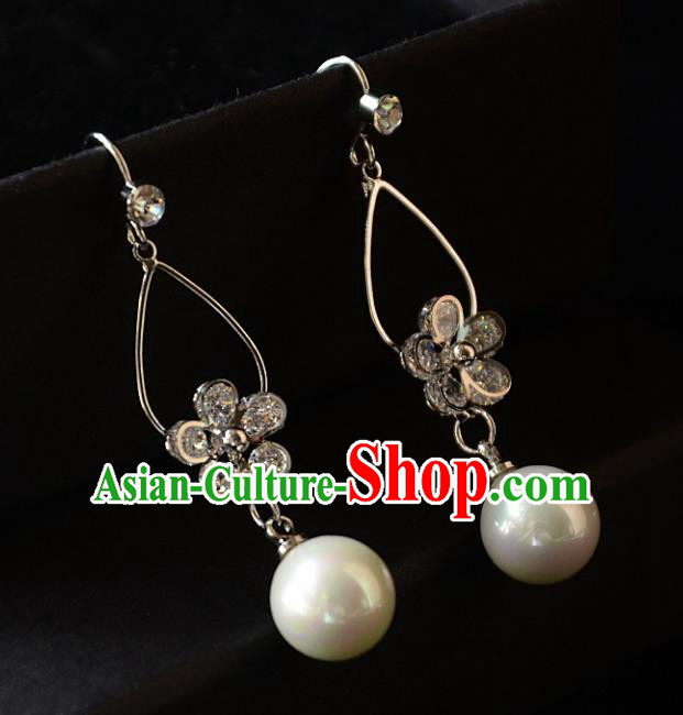 European Western Bride Vintage Accessories Crystal Eardrop Renaissance Earrings for Women