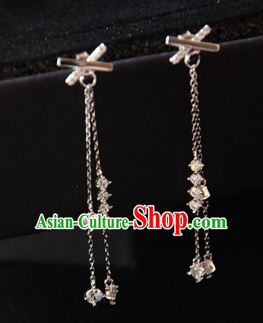 European Western Bride Vintage Accessories Eardrop Renaissance Crystal Bowknot Earrings for Women