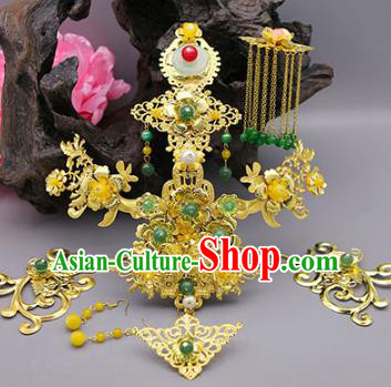 Traditional Handmade Chinese Ancient Classical Hair Accessories Wedding Phoenix Coronet Hairpins for Women