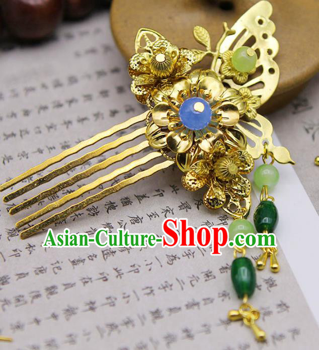 Handmade Chinese Ancient Princess Hair Accessories Butterfly Hair Comb Hairpins for Women