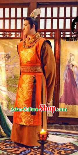 China Ancient Tang Dynasty Imperial Emperor Embroidered Clothing for Men