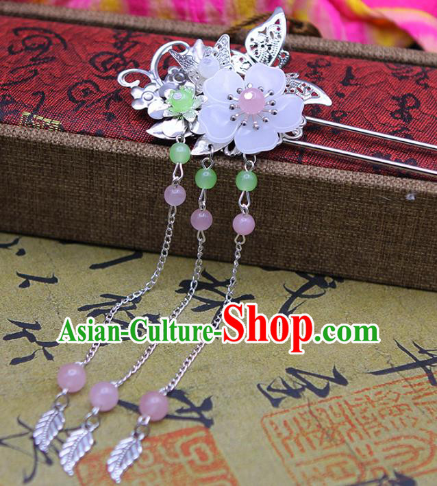 Handmade Chinese Ancient Princess Hair Accessories Butterfly Tassel Step Shake Hairpins for Women