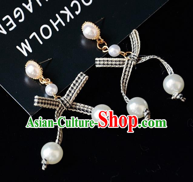European Western Bride Vintage Pearls Earbob Accessories Renaissance Earrings for Women