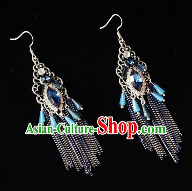 European Western Bride Vintage Crystal Bohemia Earbob Accessories Renaissance Earrings for Women