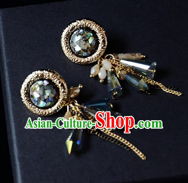 European Western Bride Vintage Bohemia Tassel Earbob Accessories Renaissance Earrings for Women