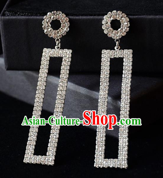 European Western Bride Vintage Accessories Renaissance Crystal Earrings for Women