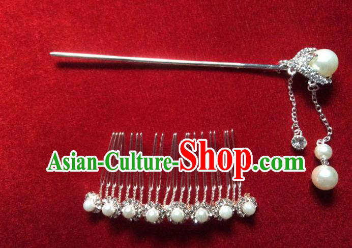 Asian Chinese Wedding Hair Accessories Hair Comb Hairpins for Women