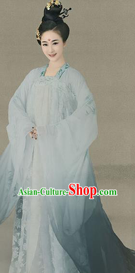 Traditional Chinese Tang Dynasty Royal Princess Embroidered Costume Palace Lady Dress for Women