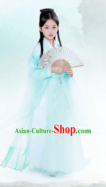 Traditional Chinese Han Dynasty Palace Lady Costume China Ancient Fairy Dress Clothing for Kids