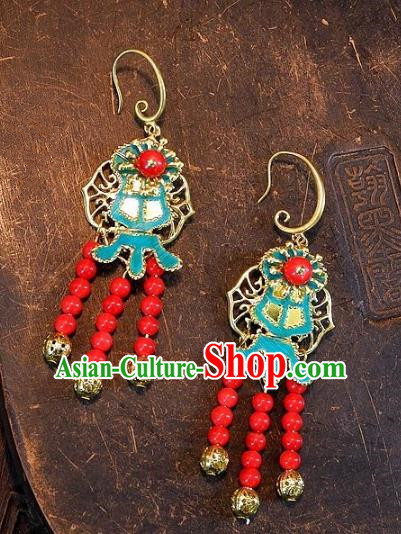 Asian Chinese Traditional Handmade Earrings Jewelry Accessories Palace Lady Eardrop for Women
