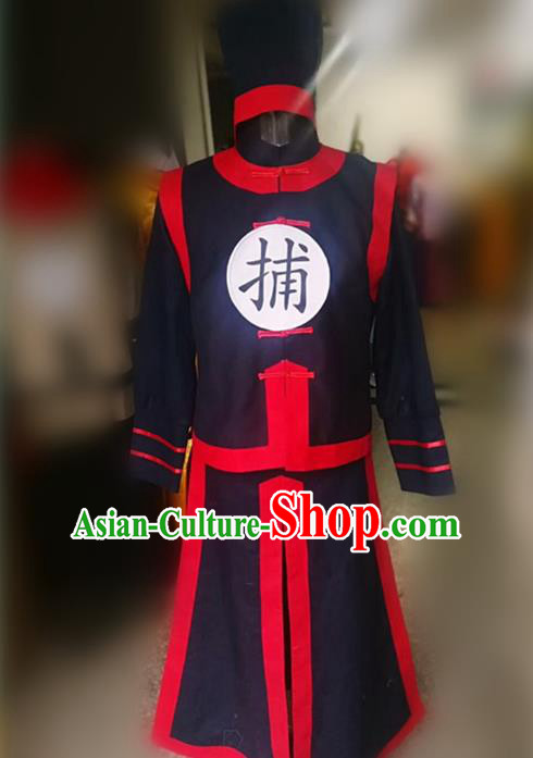 Traditional Chinese Stage Performance Costume Ancient Buster Hanfu Clothing for Men
