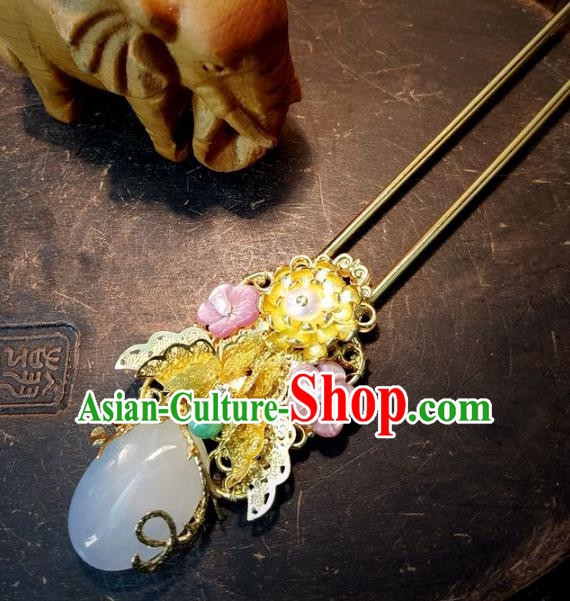 Chinese Handmade Classical Wedding Hair Accessories Ancient Hanfu Hair Clip Headdress for Women