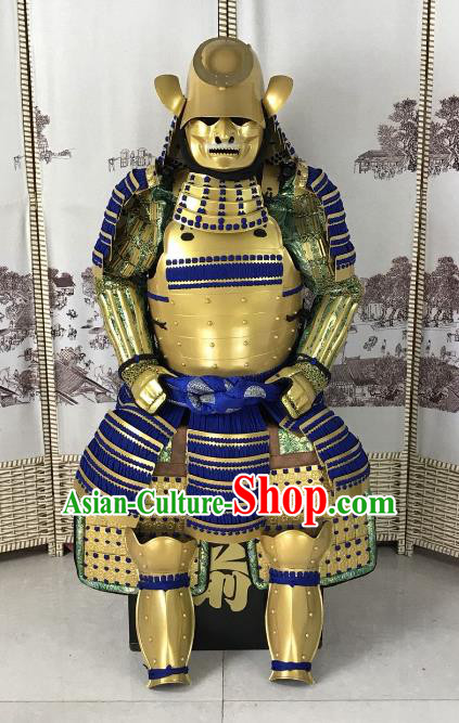Traditional Chinese Stage Performance Costume Ancient Warrior Helmet and Armour for Men