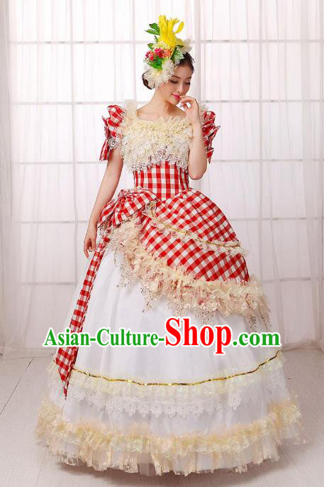 Traditional European Court Noblewoman Renaissance Costume Dance Ball Princess Bubble Dress for Women