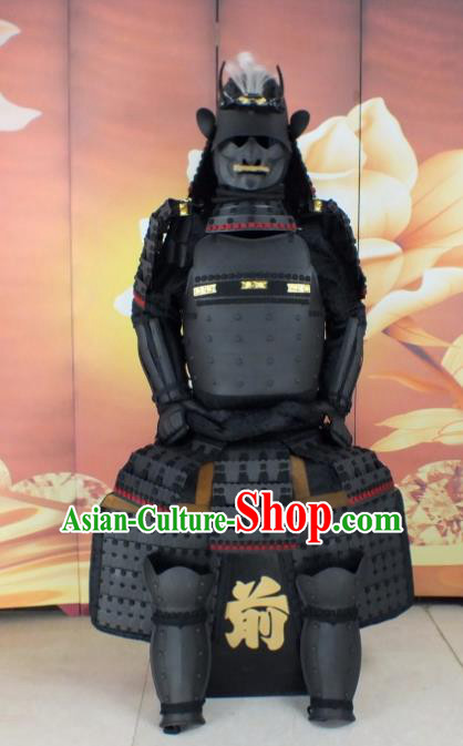 Traditional Chinese Stage Performance Costume Ancient Warrior Clothing Helmet and Armour for Men
