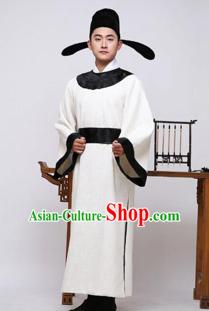 Traditional Chinese Stage Performance Costume Ancient Tang Dynasty Scholar Clothing for Men