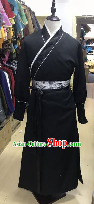 Traditional Chinese Stage Performance Costume Ancient Ming Dynasty Swordsman Clothing for Men