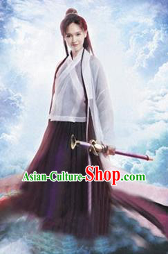 Traditional Chinese Ming Dynasty Swordswoman Costume Ancient Fairy Clothing for Women