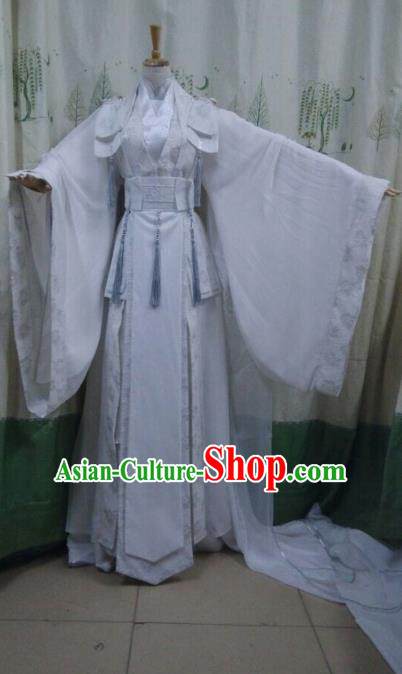 China Ancient Cosplay Swordswoman Costume Traditional Female Knight-errant Hanfu Dress for Women