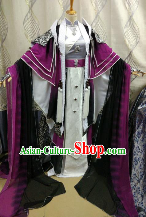 China Ancient Cosplay Swordswoman Costume Fancy Dress Traditional Hanfu Clothing for Women