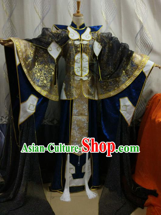 China Ancient Cosplay Swordsman Costume Knight Fancy Dress Hanfu Clothing for Men