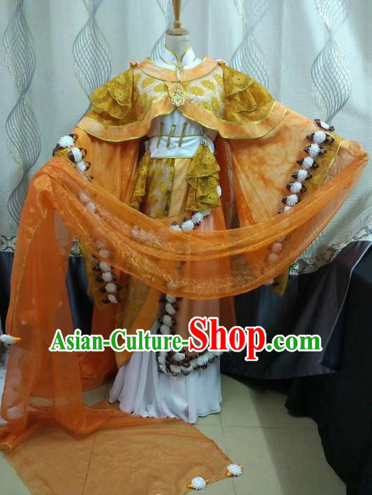 China Ancient Cosplay Ming Dynasty Queen Costume Fairy Fancy Dress Traditional Hanfu Clothing for Women