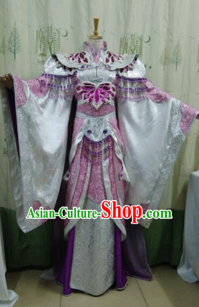 China Ancient Cosplay Palace Lady Halloween Costume Traditional Fairy Hanfu Dress for Women