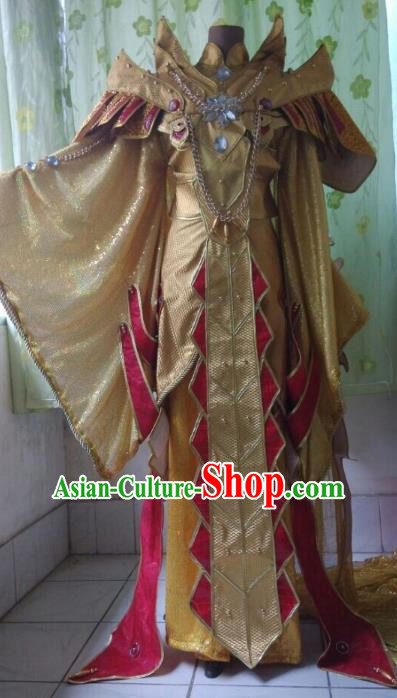 Traditional China Ancient Cosplay Immortal Embroidered Costume Swordsman Clothing for Men