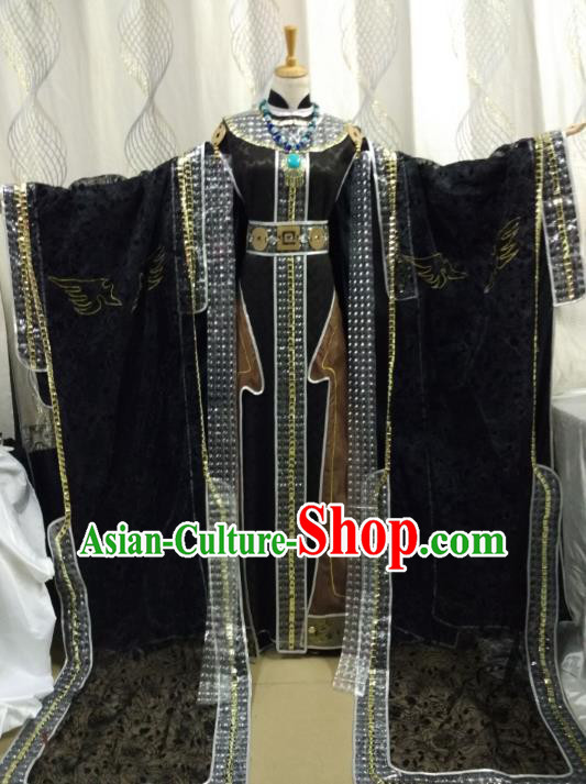 China Ancient Cosplay Royal Queen Costume Traditional Halloween Swordsman Hanfu Clothing for Women