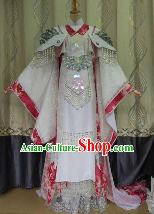China Ancient Cosplay Palace Fairy Costume Traditional Halloween Princess Hanfu Clothing for Women