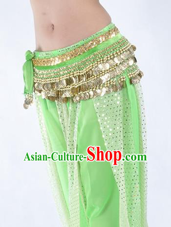 Light Green Waistband Asian Indian Belly Dance Waist Accessories India National Dance Belts for Women