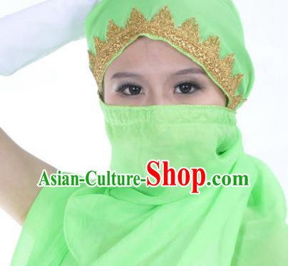Asian Indian Belly Dance Accessories Yashmak India Traditional Dance Light Green Veil for for Women