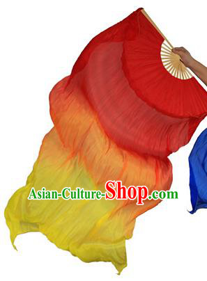 China Folk Dance Three-colour Folding Fans Yanko Dance Red Silk Fans for for Women
