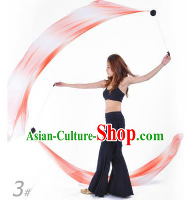 Indian Belly Dance Props India Raks Sharki Accessories Gradient Orange Ribbons for Women