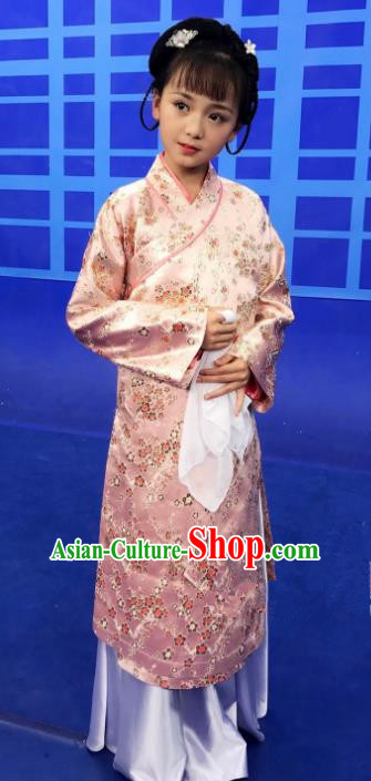 Traditional Chinese Ming Dynasty Palace Lady Costume Ancient Princess Clothing for Kids