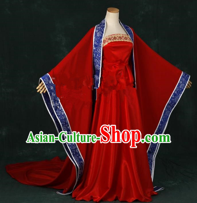 Traditional Chinese Tang Dynasty Palace Lady Wedding Costume Ancient Bride Clothing for Women