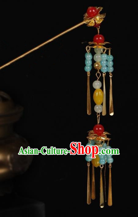 Chinese Handmade Classical Hair Accessories Tassel Step Shake Hairpins for Women