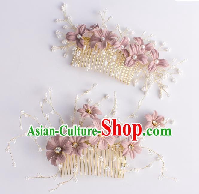 Handmade Classical Wedding Hair Accessories Bride Flowers Hair Combs for Women