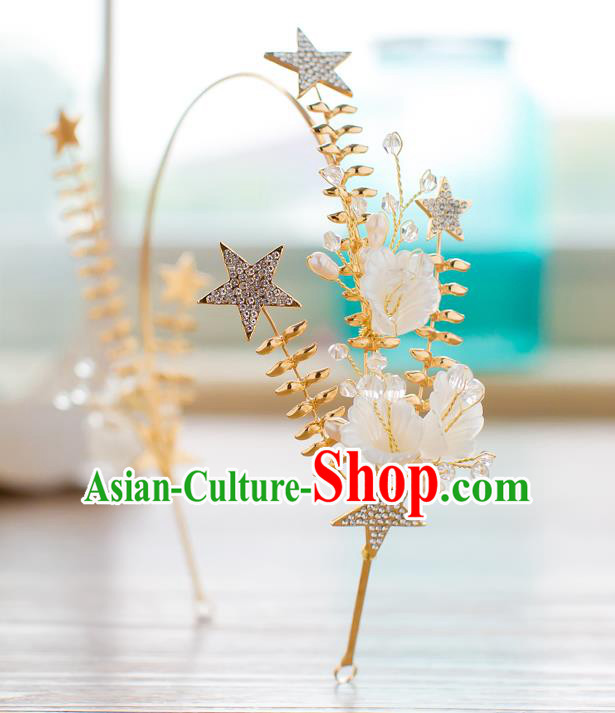 Handmade Classical Wedding Hair Accessories Bride Crystal Hair Clasp Stars Headband for Women