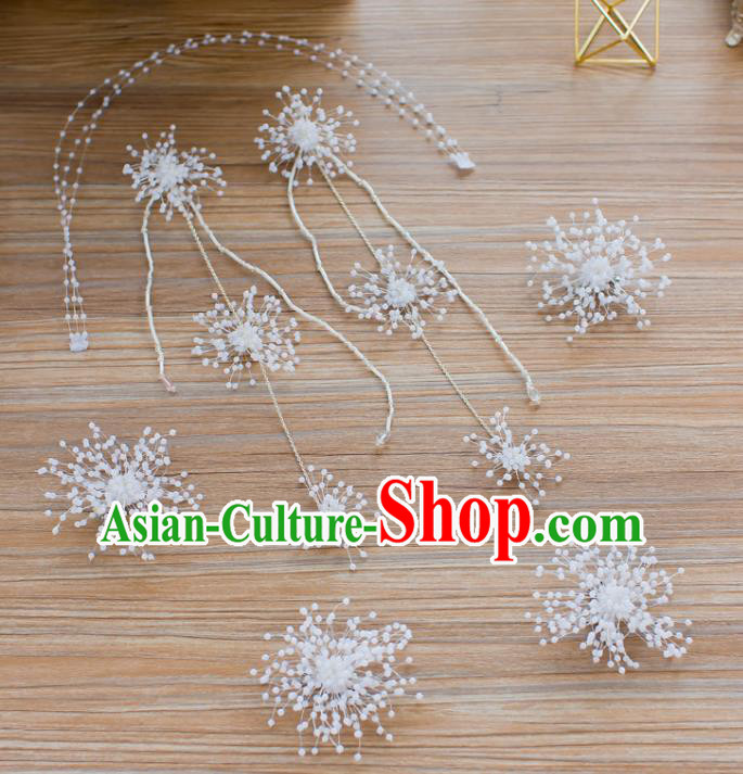 Handmade Classical Wedding Hair Accessories Bride Beads Hair Clasp Tassel Headband for Women