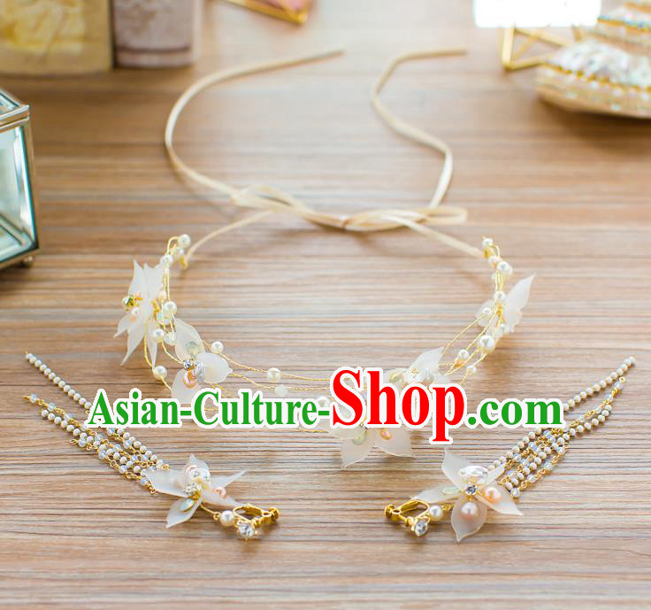 Handmade Classical Wedding Hair Accessories Bride Hair Clasp Flowers Headband for Women