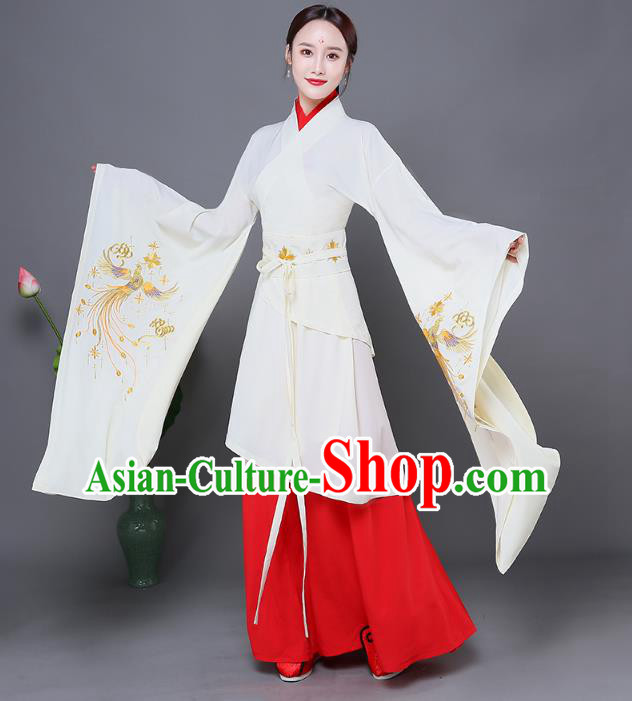 Traditional Chinese Ancient Princess Costume Han Dynasty Palace Lady Embroidered Clothing for Women