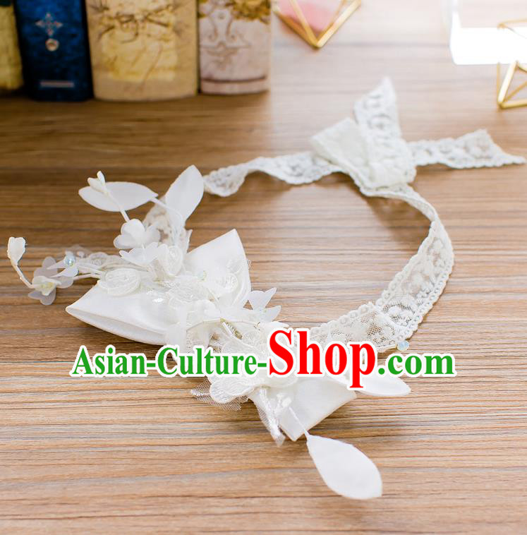 Handmade Classical Wedding Hair Accessories Bride Butterfly Hair Clasp Lace Headband for Women