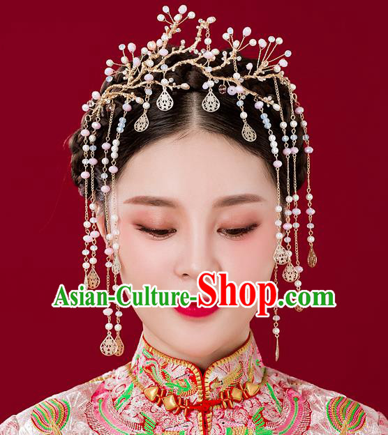 Chinese Handmade Classical Hair Accessories Ancient Hair Clip Tassel Hairpins for Women