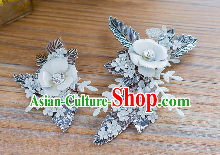 Handmade Classical Wedding Hair Accessories Bride Crystal Hair Stick Headwear for Women