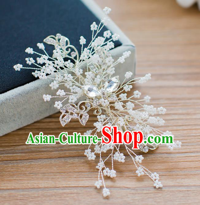 Handmade Classical Wedding Hair Accessories Bride Crystal Hair Claw Headwear for Women