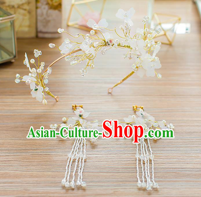 Handmade Classical Wedding Hair Accessories Bride Flowers Hair Clasp Headwear for Women